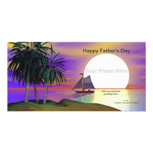 Der Vatertags-Sonnenuntergang-Segel Fotokarten