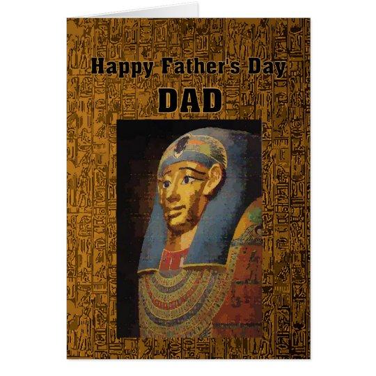 Der Vatertags-Spaß Pharao-Vati-glücklicher Karte