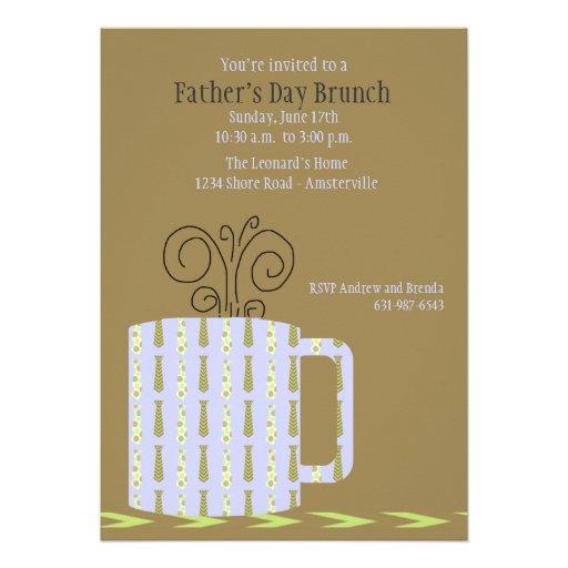 Der Vatertags-Tassen-Einladung