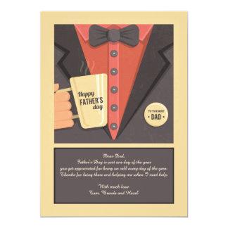 Der Vatertags-Tassen-Gruß-Karte 12,7 X 17,8 Cm Einladungskarte