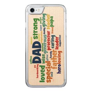 Der Vatertags-Typografie Vati-Wort-Wolken-Text- Carved iPhone 7 Hülle