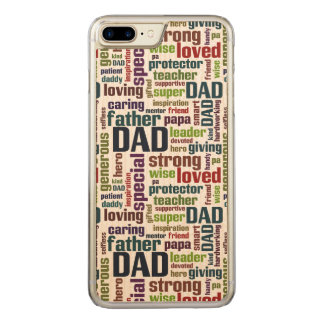 Der Vatertags-Typografie Vati-Wort-Wolken-Text- Carved iPhone 7 Plus Hülle