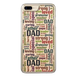 Der Vatertags-Typografie Vati-Wort-Wolken-Text- Carved iPhone 8 Plus/7 Plus Hülle