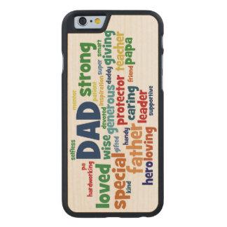Der Vatertags-Typografie Vati-Wort-Wolken-Text- Carved® iPhone 6 Hülle Ahorn