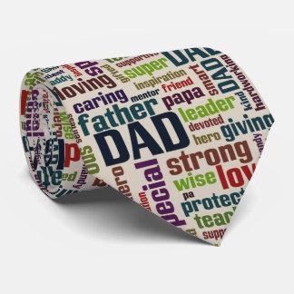 Der Vatertags-Typografie Vati-Wort-Wolken-Text- Personalisierte Krawatte