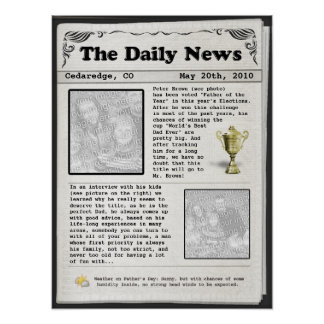 Der Vatertags-Zeitung (kundengerecht) Poster