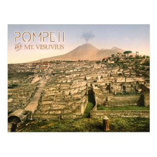 Der Vesuv und die Ruinen von Pompeji in Italien Postkarte