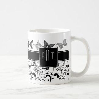 Der viktorianische Schmetterling blühen Kaffeetasse