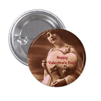 Der Vintage Tag Art Valentines Runder Button 2,5 Cm