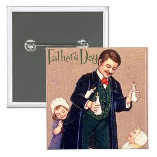 Der Vintage Vatertag Anstecknadelbutton