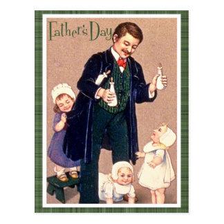 Der Vintage Vatertag Postkarte