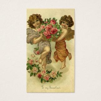 Der Vintage viktorianische Tag des Valentines, Visitenkarten