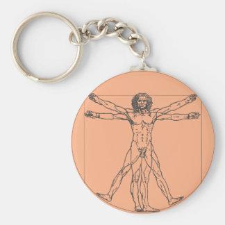 Der Vitruvian Mann Keychain Schlüsselanhänger