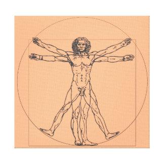Der Vitruvian Mann-Leinwand-Druck Leinwanddruck