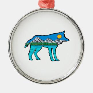 DER WALDgeist Rundes Silberfarbenes Ornament
