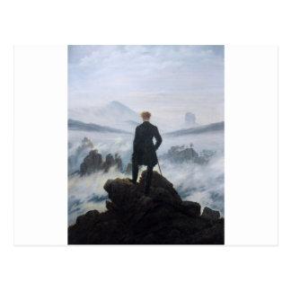 Der Wanderer über dem Meer des Nebels durch Caspar Postkarte