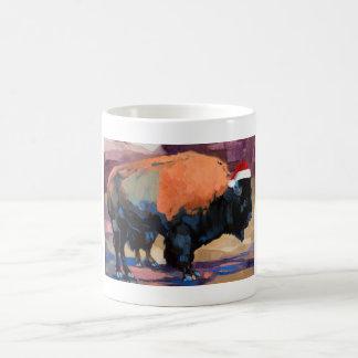 Der Weihnachtsbison-Wickelrock Kaffeetasse