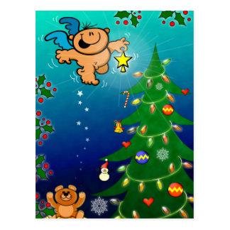 Der Weihnachtsengel und der vermisste Stern Postkarte
