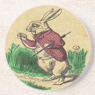 Der weiße Kaninchen-Untersetzer Getränkeuntersetzer