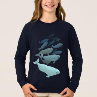 Der Weißwal-Wal-Sweatshirt-Baby-Weißwal-Shirts des Sweatshirt