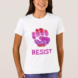 Der Widerstand-Gekritzel-Kunst-Faust-T-Stück der T-Shirt