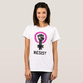 Der Widerstand-Grungy Gekritzel-Kunst-T-Stück der T-Shirt