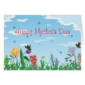 Der wilde Tag der Blumen-Mutter Karte