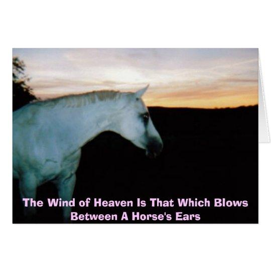 Der Wind des Himmels Grußkarte