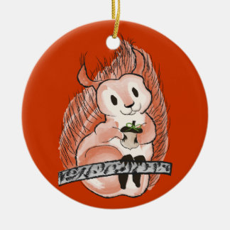 Der Winter: Der Feiertags-Muster des Eichhörnchens Keramik Ornament