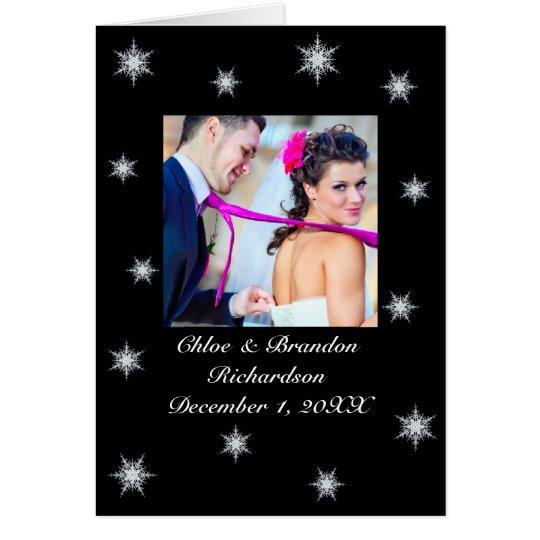 Der Winter Wedding Snowy danken Ihnen zu kardieren Mitteilungskarte