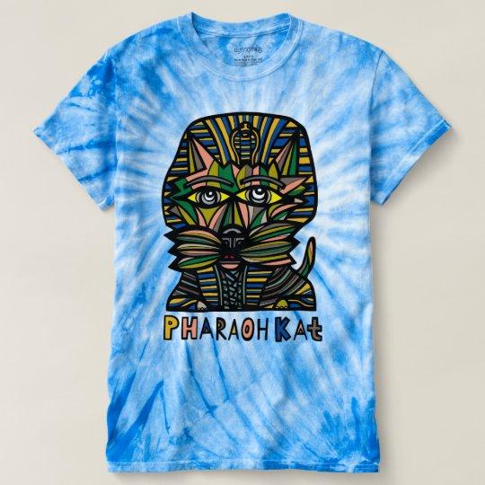 "Der Wirbelsturm-gefärbte Krawatte ""Pharaokat-"" T-shirt"