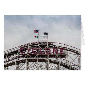 Der Wirbelsturm in Coney Island, NY Karte