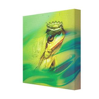 Der wirkliche Frosch-Prinz Leinwanddruck