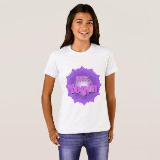 Der Yogin des Mädchens T - Shirt mit violettem