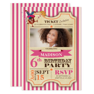 Der Zirkus-Karten-| Party Einladung