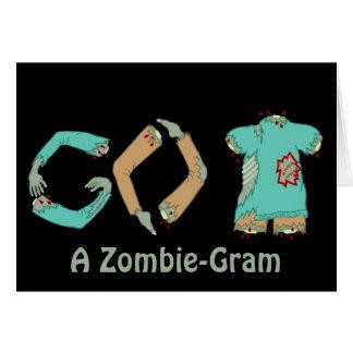 Der Zombie GEHEN ZURÜCK Geek-Spaß denkend an Sie Grußkarte