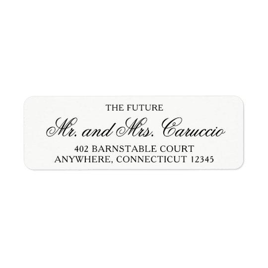 Der zukünftige Herr und die Frau Rücksende Aufkleber