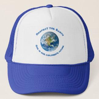 Der zukünftige Hut der Respekt-Planeten-Erdkinder Truckerkappe