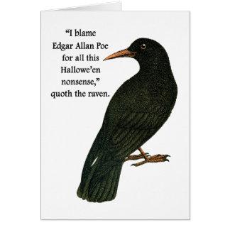 Der zynische Halloween-Rabe Karte