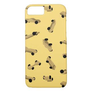 Derby-Autos auf Gold iPhone 8/7 Hülle