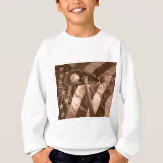"""Des Amerikas der Baseball - Fans """"Spiel"""" im Sepia Sweatshirt"""