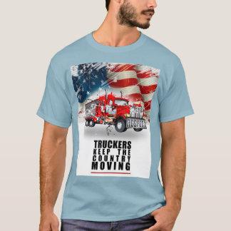 Des Fernlastfahrers behalten dieses Land-Bewegen T-Shirt