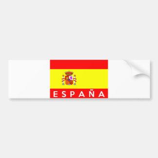 des Flaggenlandes Espana Spanien spanischer Autoaufkleber