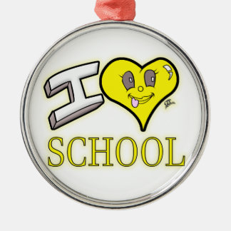 des Gelb-Schulbusses der Liebe I Schulausgabe Silbernes Ornament