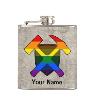 Des Geologen Regenbogen-Flagge der Flachmann
