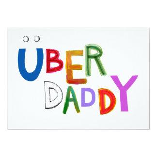 Des guten spaß-Kunstwörter Vativaters Uber Vatis 12,7 X 17,8 Cm Einladungskarte