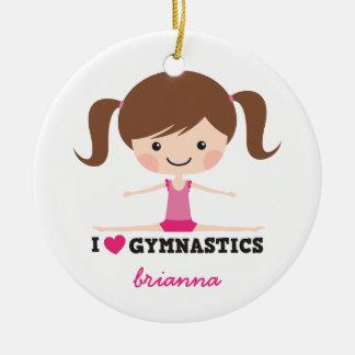 Des Gymnastik-Cartoon-Mädchens der Liebe I Keramik Ornament