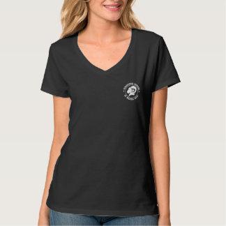 Des Hanes der Damen Nano-V-Hals Schwarzes RAM T - T-Shirt