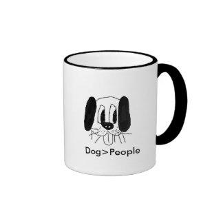 Des Hundes sind große Tasse! Ringer Tasse