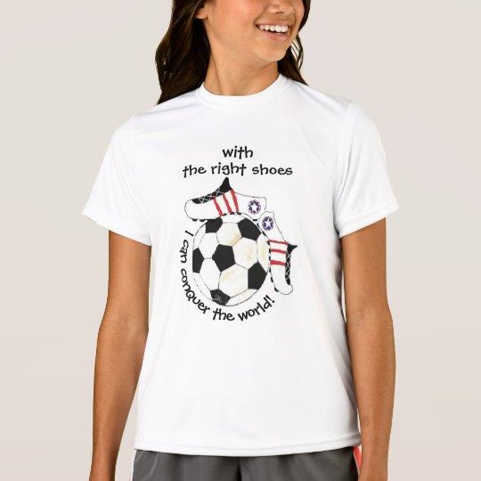 Des inspirierend Fußball-Mädchens erobern die Welt T-Shirt